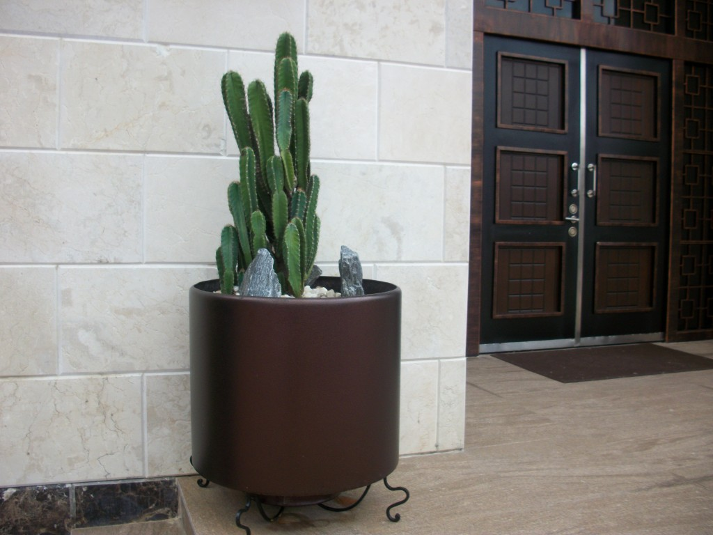 Planters accents will jazz up any garden